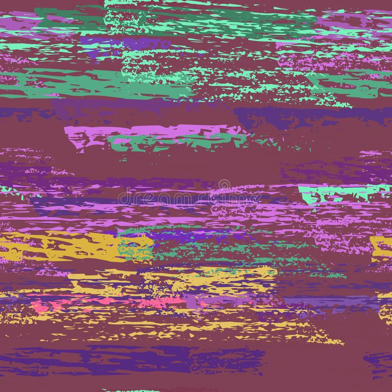 As listras do Grunge alinham Texturas do giz ilustração do vetor