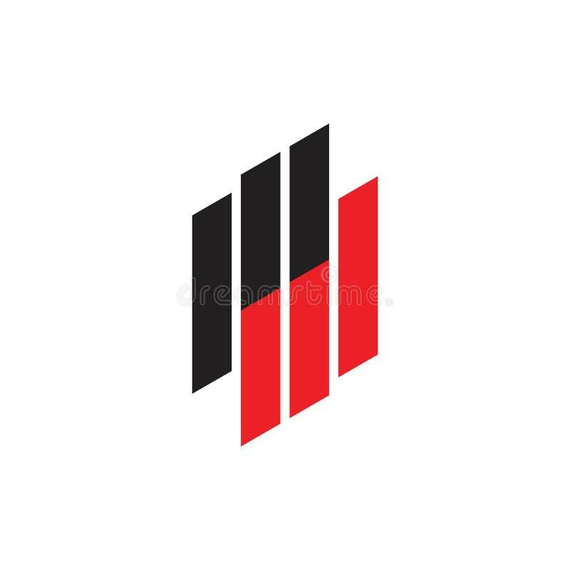 As listras do paládio das letras ligaram o vetor do logotipo ilustração do vetor