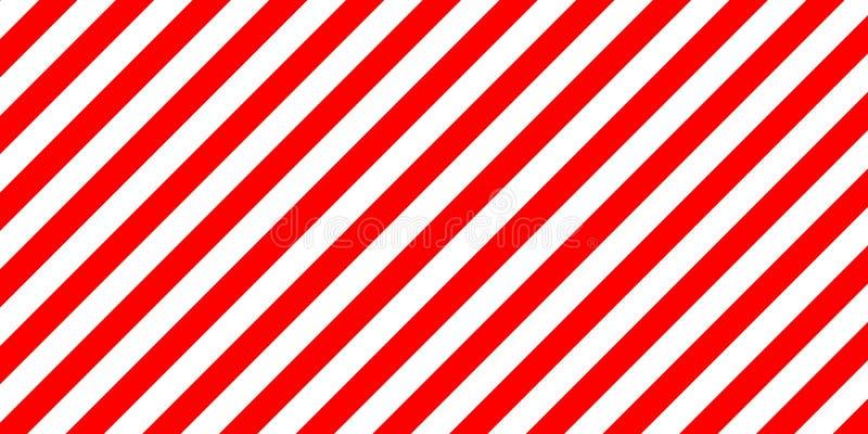 As listras vermelhas e brancas assinam diagonalmente, a carga do tamanho ilustração royalty free
