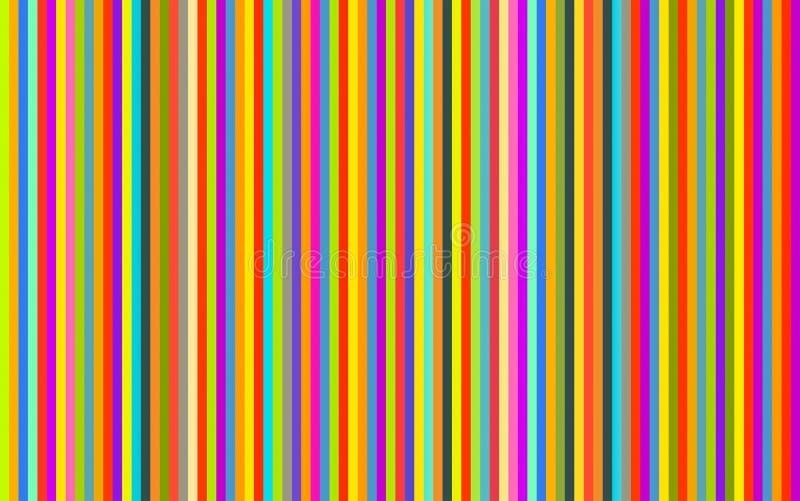 As listras verticais coloriram a linha brilhante bege violeta azul azul roxa vermelha fundo do verde amarelo ilustração royalty free