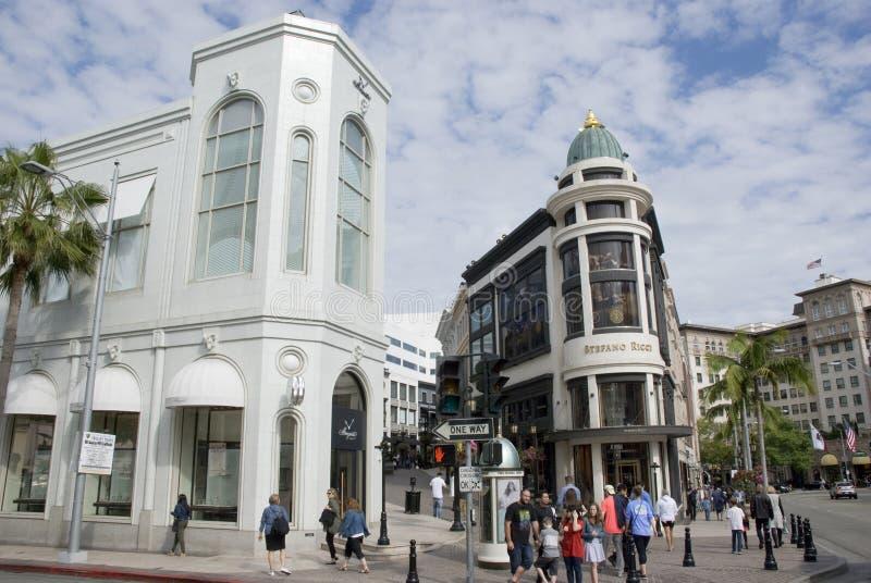 As lojas luxuosos no rodeio conduzem, Los Angeles - Califórnia imagens de stock royalty free