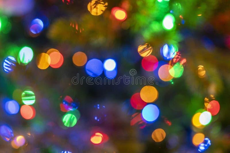 As luzes coloridas borradas usam-se como um fundo imagem de stock royalty free