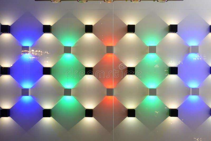 As luzes conduzidas coloridas do ponto conduziram a lâmpada do tiro foto de stock
