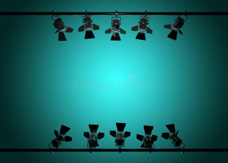 As luzes 3d da fase rendem ilustração do vetor