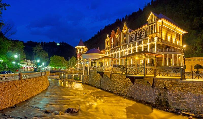 As luzes de Borjomi imagens de stock