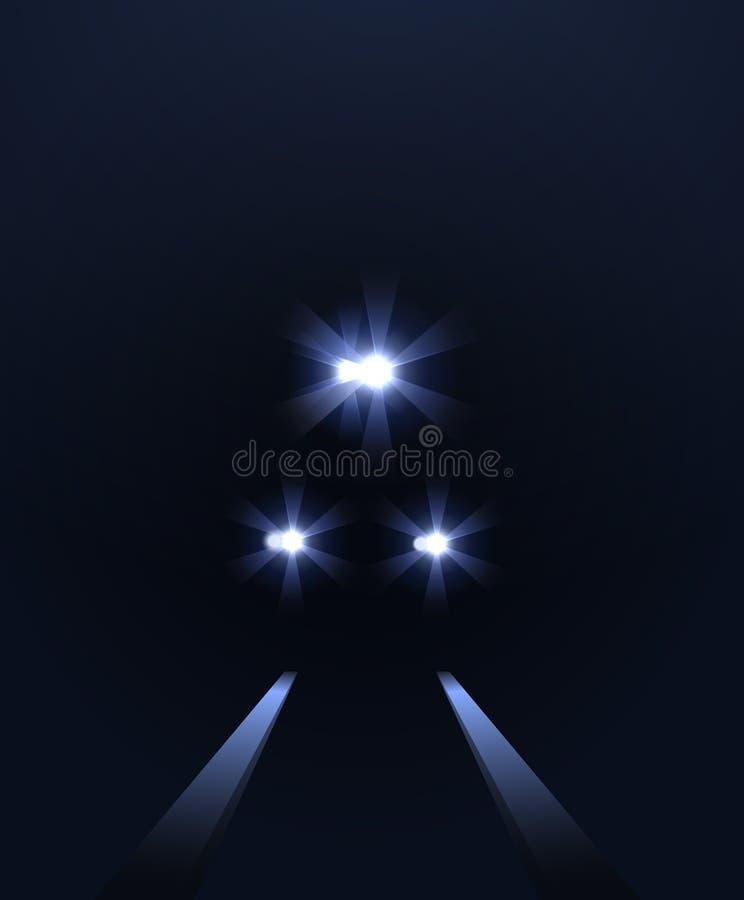 As luzes do trem, vector o fundo abstrato ilustração royalty free