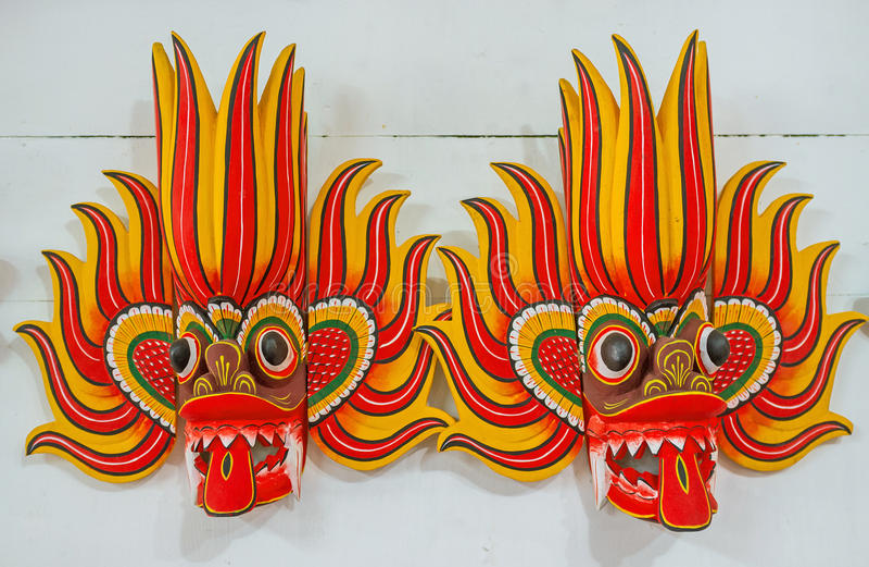 As máscaras de dançarinos do fogo fotografia de stock