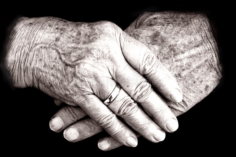 As mãos foto de stock