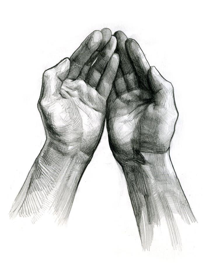 As mãos abrem ilustração do vetor