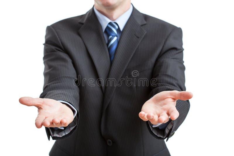 As mãos abrem largamente imagens de stock royalty free