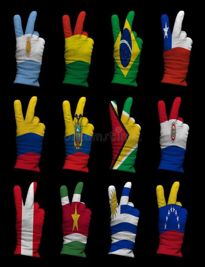 Download Bandeiras Nacionais De Ámérica Do Sul, Sinal Da Vitória Foto de Stock - Imagem de fundo, equador: 29825952
