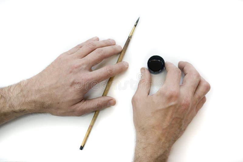 As Mãos Do Artista Fotos De Stock