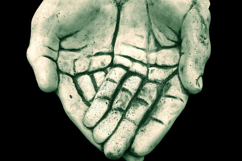 As mãos do deus fotografia de stock