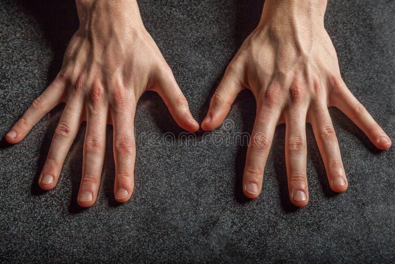 As mãos do fotógrafo imagem de stock