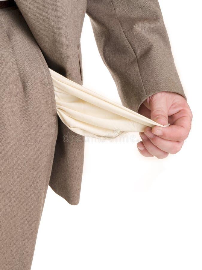 As mãos - quebrou o homem de negócios imagens de stock