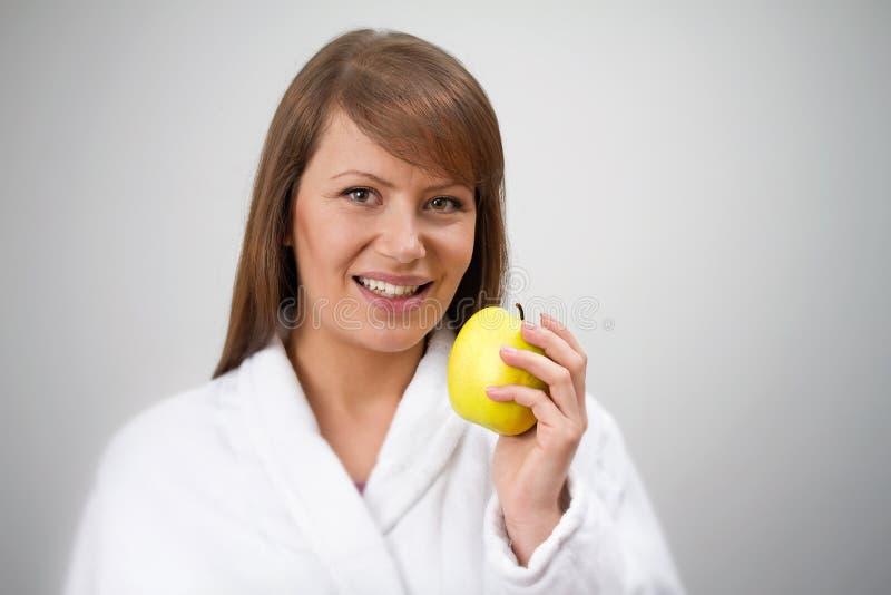 Apple faz dieta foto de stock royalty free