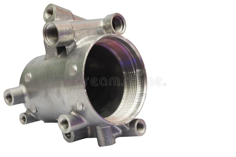 as machined aluminium high pressure die casting parts stock image