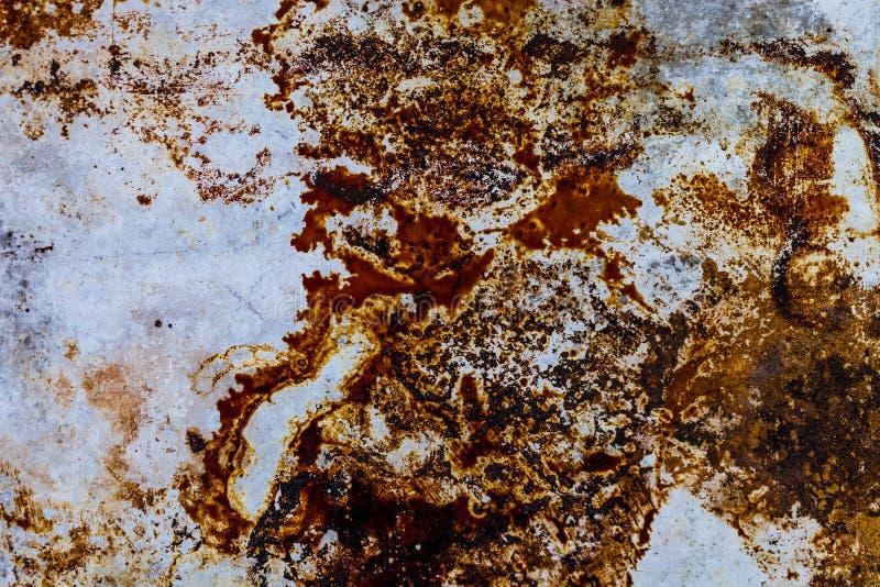 As manchas oxidadas no metal muram/fundos sujas da textura fotografia de stock royalty free