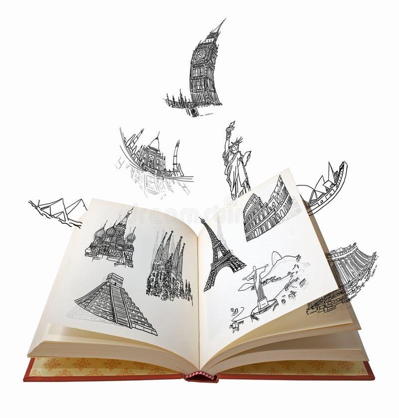 As maravilhas do mundo ilustração stock