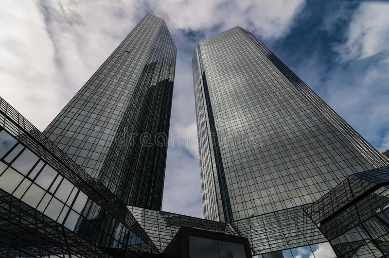 As matrizes do ` de Deutsche Bank do ` em Francoforte, Alemanha fotos de stock royalty free