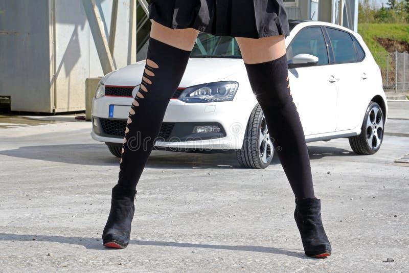 As meias pretas fotografia de stock