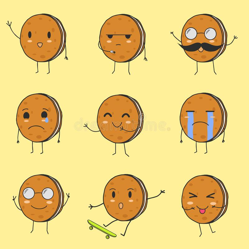 As melhores cookies bonitos Emoji foto de stock