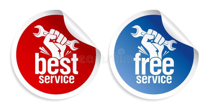 As melhores etiquetas do serviço. ilustração do vetor