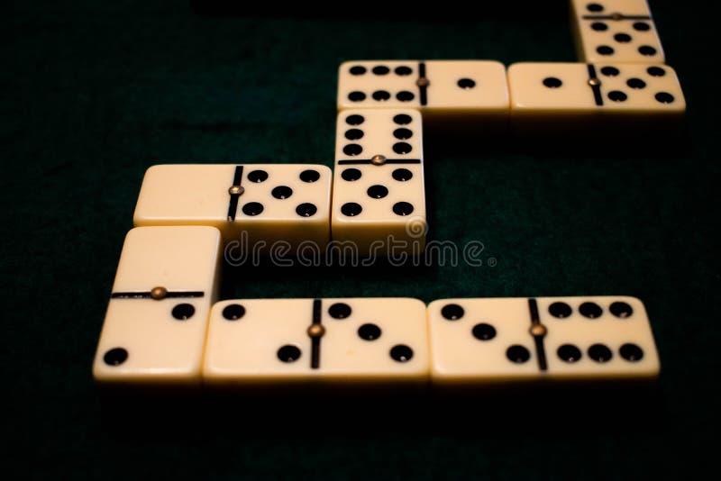 As microplaquetas de Dominofoto de stock