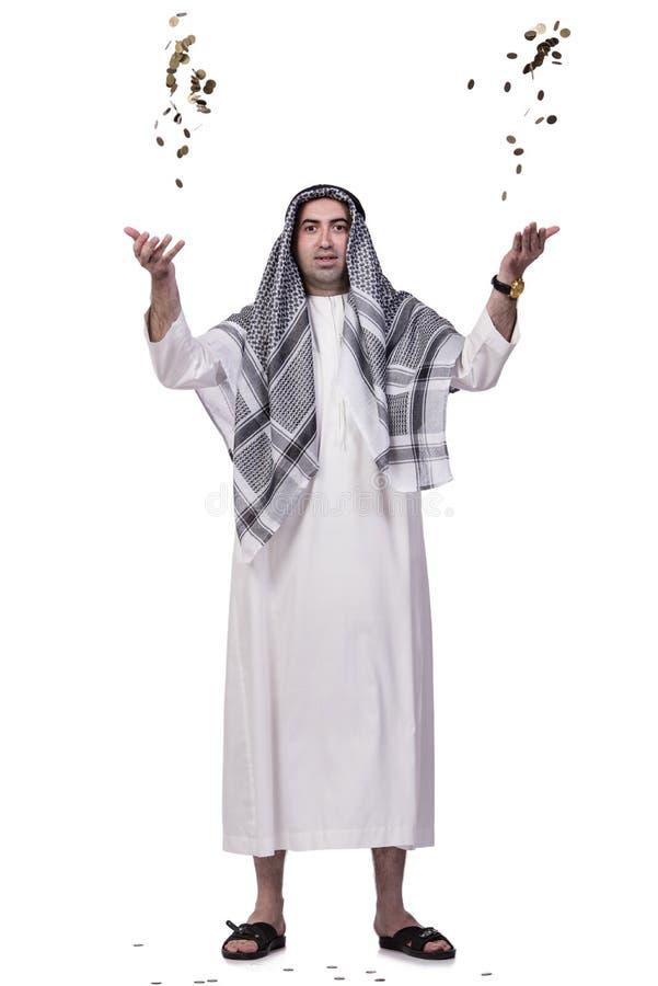 As moedas de jogo árabes isoladas no branco imagem de stock royalty free
