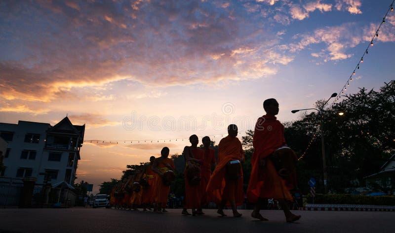 As monges de Laos fotos de stock royalty free