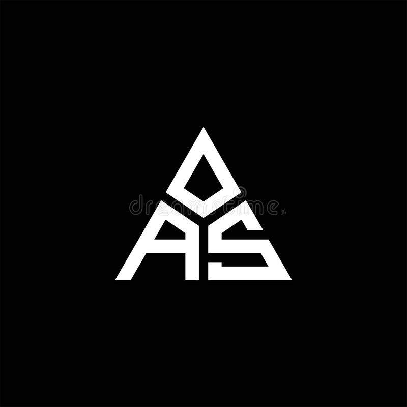 As Monogram Logo With 3 Pieces Shape Isolated On Triangle Stock Vector Illustration Of Initials Element 179712782