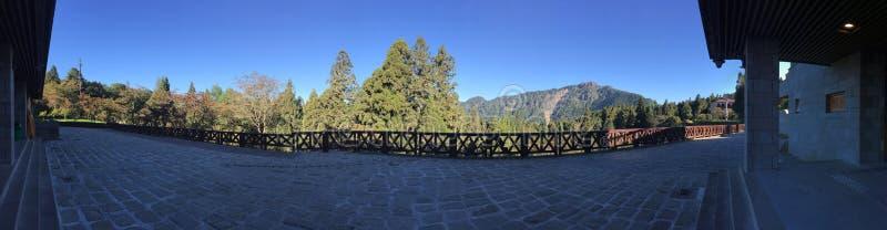 As montanhas ajardinam em Alishan fotografia de stock