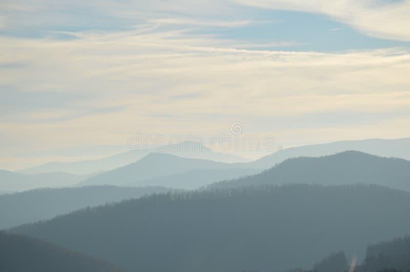 As montanhas apalaches bonitas em Boone, North Carolina fotos de stock