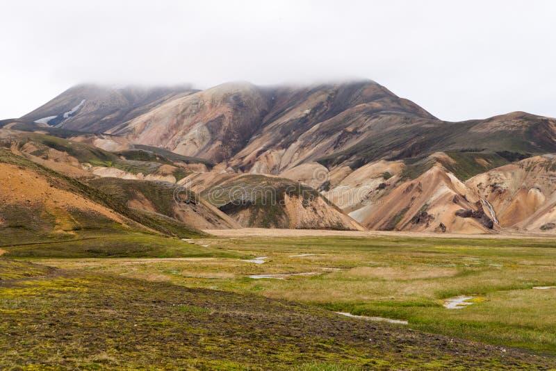 As montanhas coloridas de Landmannalaugar foto de stock royalty free
