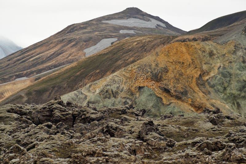 As montanhas coloridas de Landmannalaugar fotos de stock