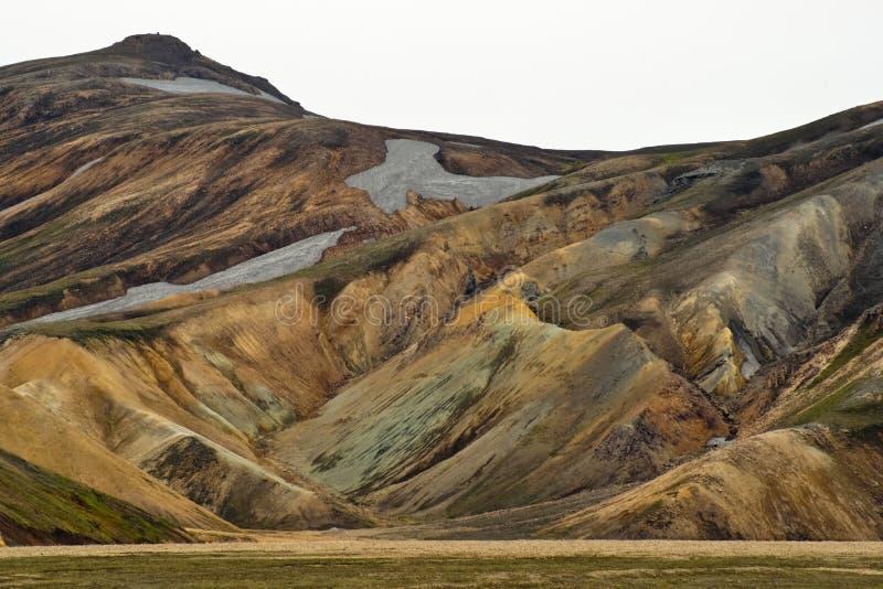 As montanhas coloridas de Landmannalaugar fotografia de stock royalty free