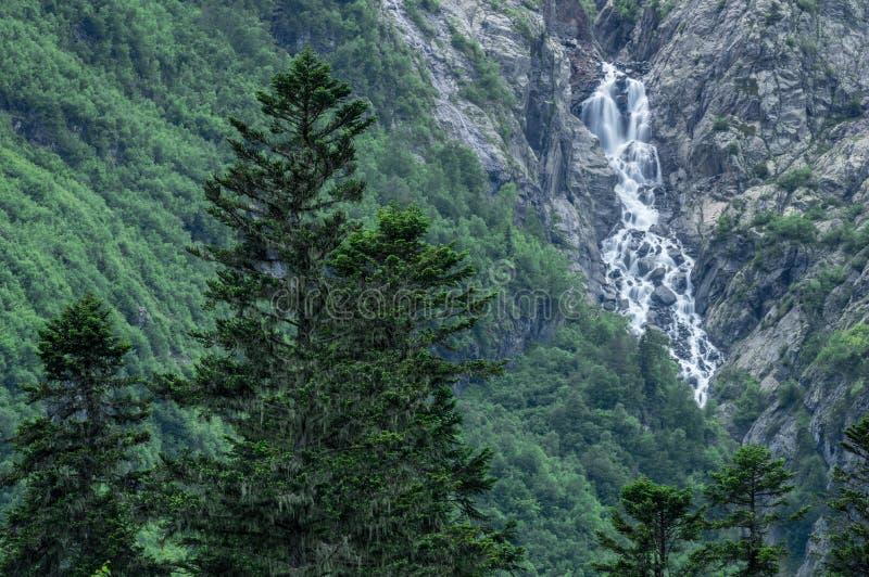 As montanhas, curso, natureza, lagos, lugar bonito, caem imagem de stock