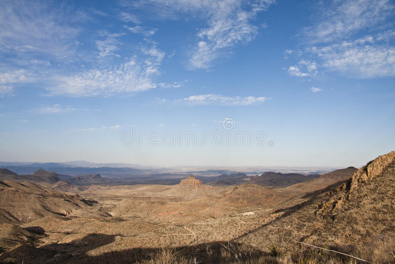 As montanhas de Chisos na curvatura grande fotografia de stock royalty free