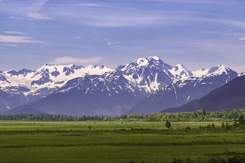As montanhas de Chugach ao sudeste de Anchorage Alaska foto de stock royalty free