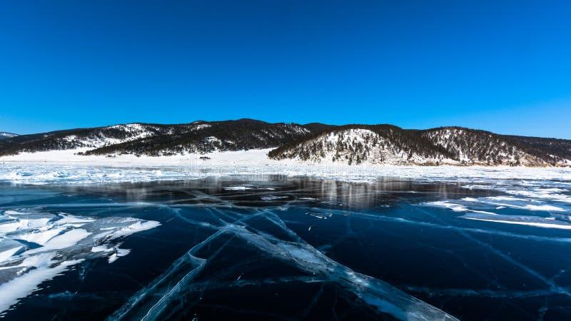 As montanhas do Lago Baikal imagem de stock