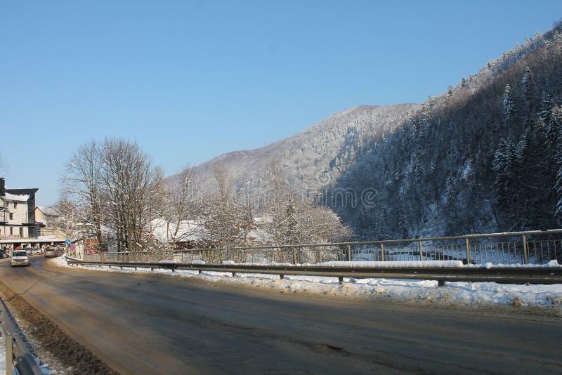 As montanhas no inverno carpathians imagem de stock
