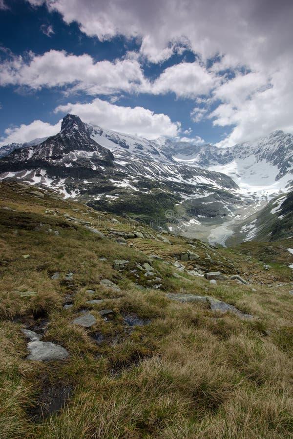 As montanhas próximo Weiss-veem, Stubach, Áustria imagem de stock royalty free