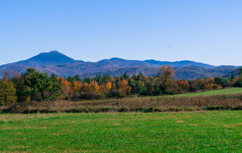 As montanhas verdes de Vermont na queda foto de stock royalty free