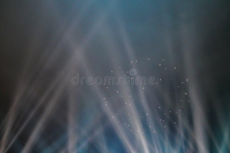 As mostras claras Mostra do laser fotografia de stock