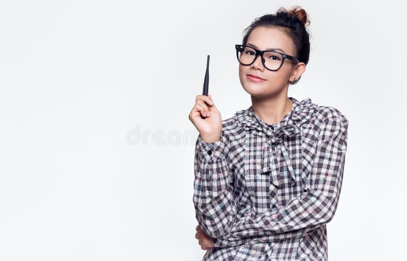As mulheres asiáticas estão sorrindo imagem de stock royalty free