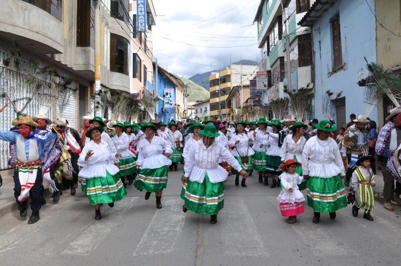 As mulheres peruanas comemoram o Dia do rei imagens de stock