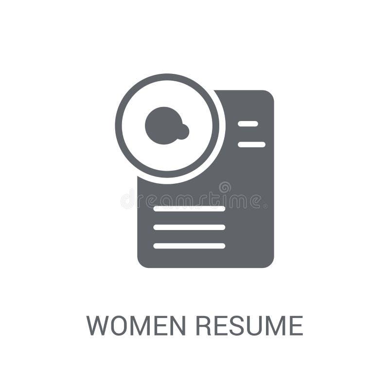 As mulheres recomeçam o ícone As mulheres na moda recomeçam o conceito do logotipo no CCB branco ilustração do vetor