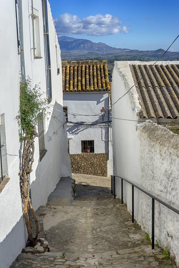 As municipalidades da província de Cadiz, Jimena de la Frontera, Espanha imagem de stock royalty free