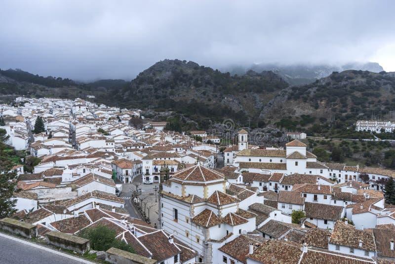 As municipalidades na província de Cadiz, Grazalema fotos de stock royalty free