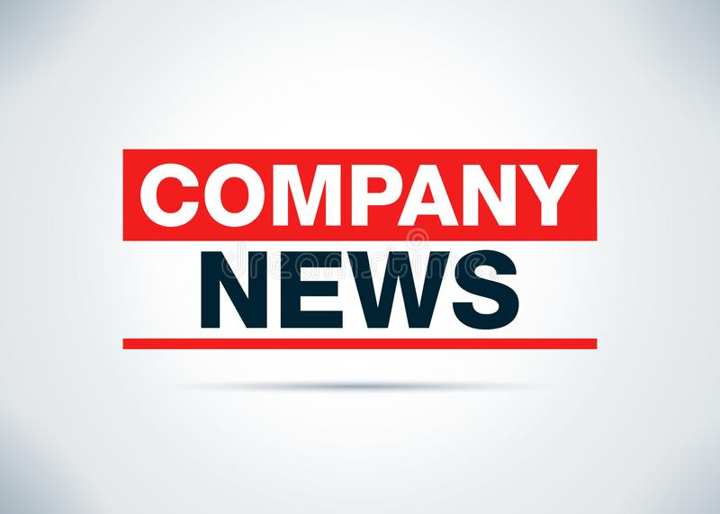 As notícias da empresa abstraem a ilustração lisa do projeto do fundo ilustração do vetor